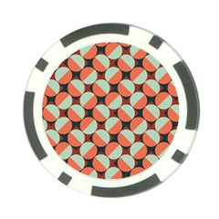 Modernist Geometric Tiles Poker Chip Card Guards (10 Pack)  by DanaeStudio