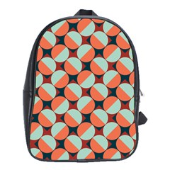 Modernist Geometric Tiles School Bags(large)  by DanaeStudio
