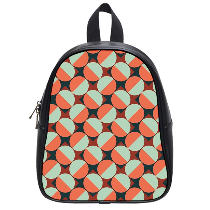 Modernist Geometric Tiles School Bags (Small)