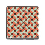 Modernist Geometric Tiles Memory Card Reader (Square)