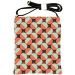Modernist Geometric Tiles Shoulder Sling Bags Front