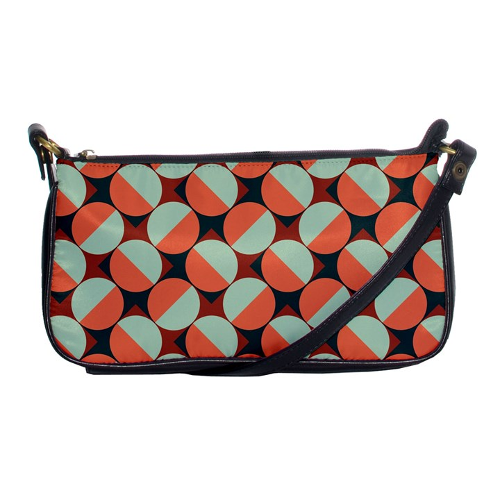 Modernist Geometric Tiles Shoulder Clutch Bags