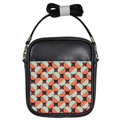 Modernist Geometric Tiles Girls Sling Bags by DanaeStudio
