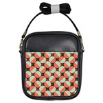 Modernist Geometric Tiles Girls Sling Bags Front