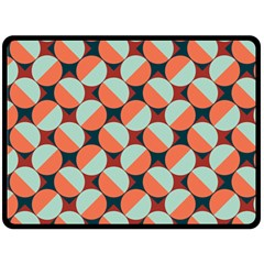Modernist Geometric Tiles Fleece Blanket (large)  by DanaeStudio