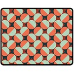 Modernist Geometric Tiles Fleece Blanket (Medium)