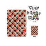 Modernist Geometric Tiles Playing Cards 54 (Mini)  Front - HeartQ