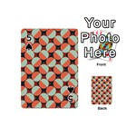 Modernist Geometric Tiles Playing Cards 54 (Mini)  Front - Spade5