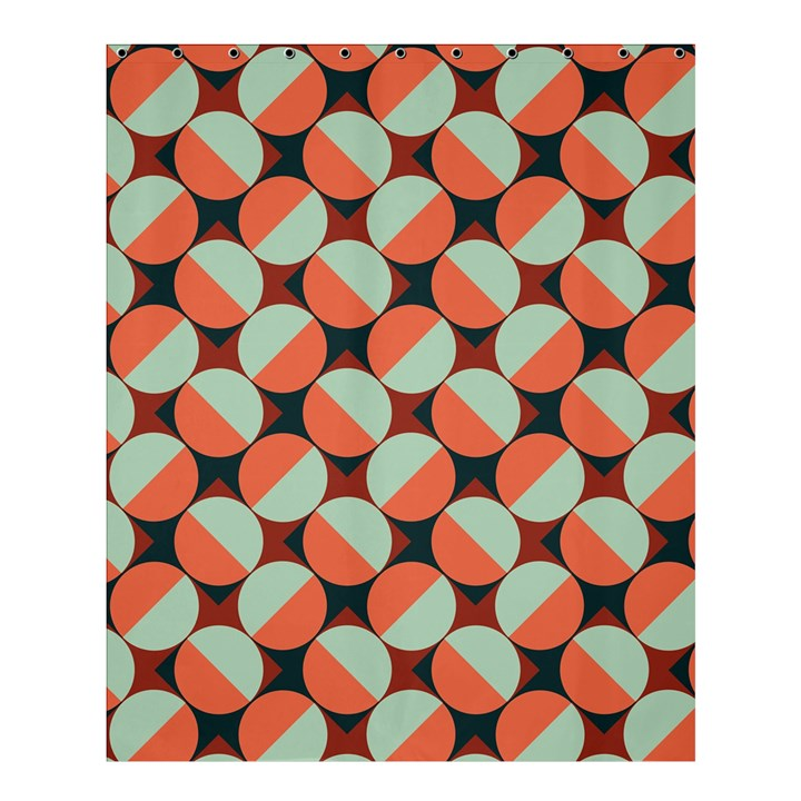 Modernist Geometric Tiles Shower Curtain 60  x 72  (Medium)