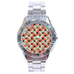 Modernist Geometric Tiles Stainless Steel Analogue Watch by DanaeStudio