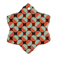 Modernist Geometric Tiles Snowflake Ornament (2 Side)