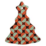 Modernist Geometric Tiles Christmas Tree Ornament (2 Sides)