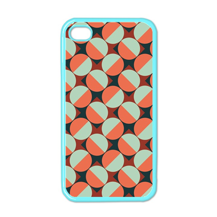 Modernist Geometric Tiles Apple iPhone 4 Case (Color)