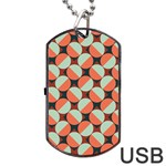 Modernist Geometric Tiles Dog Tag USB Flash (One Side)