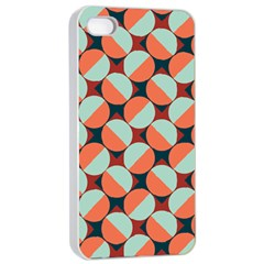 Modernist Geometric Tiles Apple Iphone 4/4s Seamless Case (white)