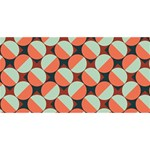 Modernist Geometric Tiles Happy Birthday 3D Greeting Card (8x4) Front