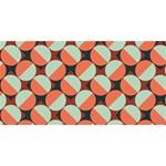 Modernist Geometric Tiles MOM 3D Greeting Card (8x4) Back