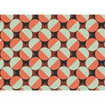 Modernist Geometric Tiles LOVE Bottom 3D Greeting Card (7x5) Back