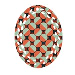 Modernist Geometric Tiles Oval Filigree Ornament (2-Side)