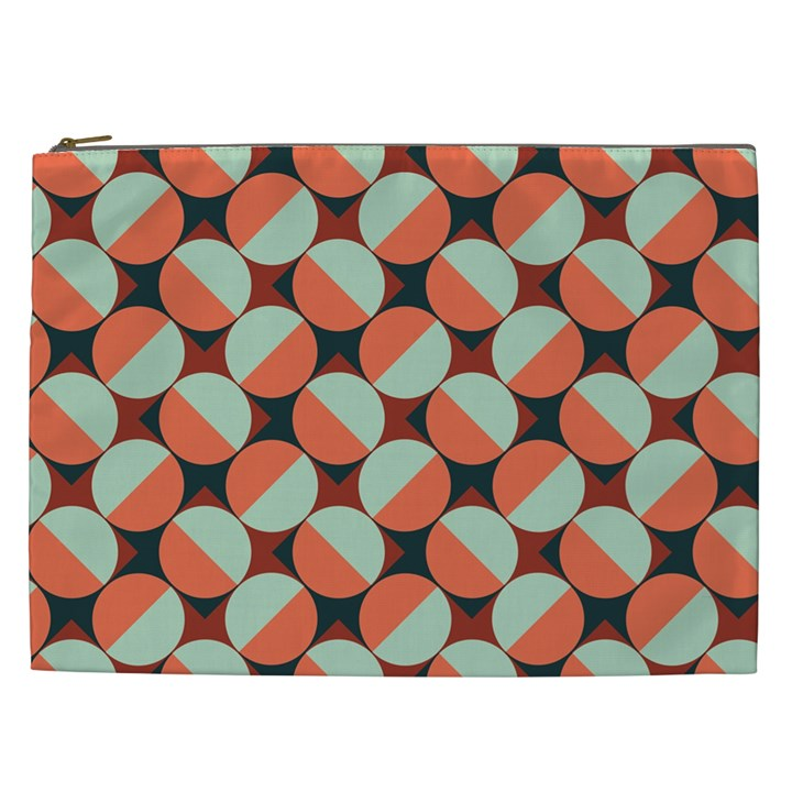 Modernist Geometric Tiles Cosmetic Bag (XXL)