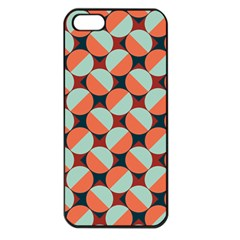 Modernist Geometric Tiles Apple Iphone 5 Seamless Case (black) by DanaeStudio