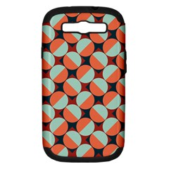 Modernist Geometric Tiles Samsung Galaxy S Iii Hardshell Case (pc+silicone) by DanaeStudio