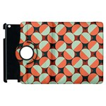 Modernist Geometric Tiles Apple iPad 3/4 Flip 360 Case Front