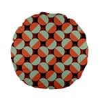 Modernist Geometric Tiles Standard 15  Premium Round Cushions Back