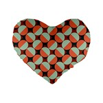 Modernist Geometric Tiles Standard 16  Premium Heart Shape Cushions