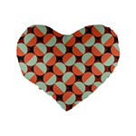 Modernist Geometric Tiles Standard 16  Premium Heart Shape Cushions Back