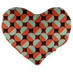 Modernist Geometric Tiles Large 19  Premium Heart Shape Cushions