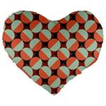 Modernist Geometric Tiles Large 19  Premium Heart Shape Cushions Front