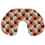 Modernist Geometric Tiles Travel Neck Pillows Back
