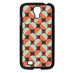 Modernist Geometric Tiles Samsung Galaxy S4 I9500/ I9505 Case (Black) Front