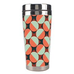 Modernist Geometric Tiles Stainless Steel Travel Tumblers by DanaeStudio