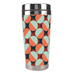 Modernist Geometric Tiles Stainless Steel Travel Tumblers