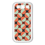 Modernist Geometric Tiles Samsung Galaxy S3 Back Case (White) Front