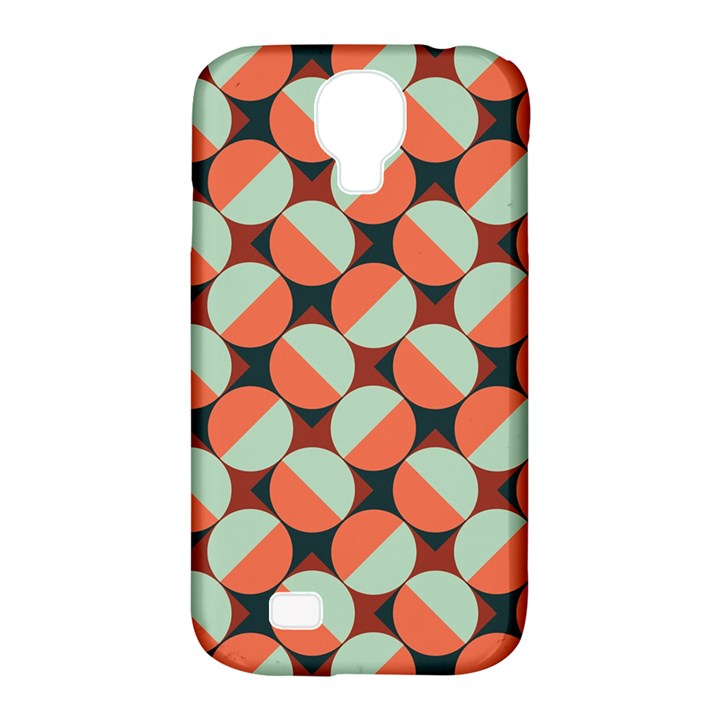 Modernist Geometric Tiles Samsung Galaxy S4 Classic Hardshell Case (PC+Silicone)