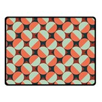 Modernist Geometric Tiles Double Sided Fleece Blanket (Small)  45 x34 Blanket Front