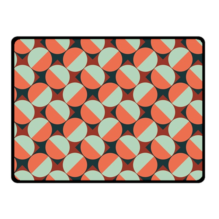 Modernist Geometric Tiles Double Sided Fleece Blanket (Small)