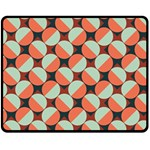Modernist Geometric Tiles Double Sided Fleece Blanket (Medium)