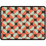 Modernist Geometric Tiles Double Sided Fleece Blanket (Large)