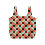 Modernist Geometric Tiles Full Print Recycle Bags (S)