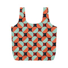 Modernist Geometric Tiles Full Print Recycle Bags (m)