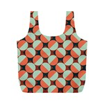 Modernist Geometric Tiles Full Print Recycle Bags (M)  Back