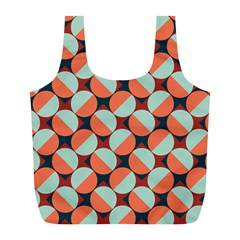 Modernist Geometric Tiles Full Print Recycle Bags (l)  by DanaeStudio