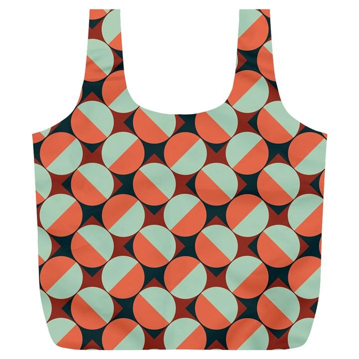 Modernist Geometric Tiles Full Print Recycle Bags (L)