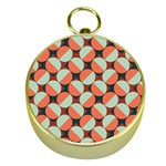 Modernist Geometric Tiles Gold Compasses