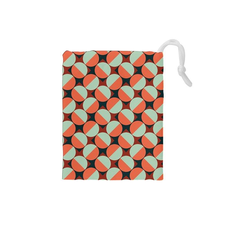 Modernist Geometric Tiles Drawstring Pouches (Small)