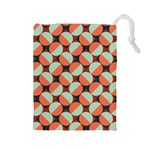 Modernist Geometric Tiles Drawstring Pouches (Large)